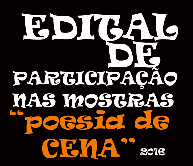 EDITAL - POESIA DE CENA INSCREVA-SE