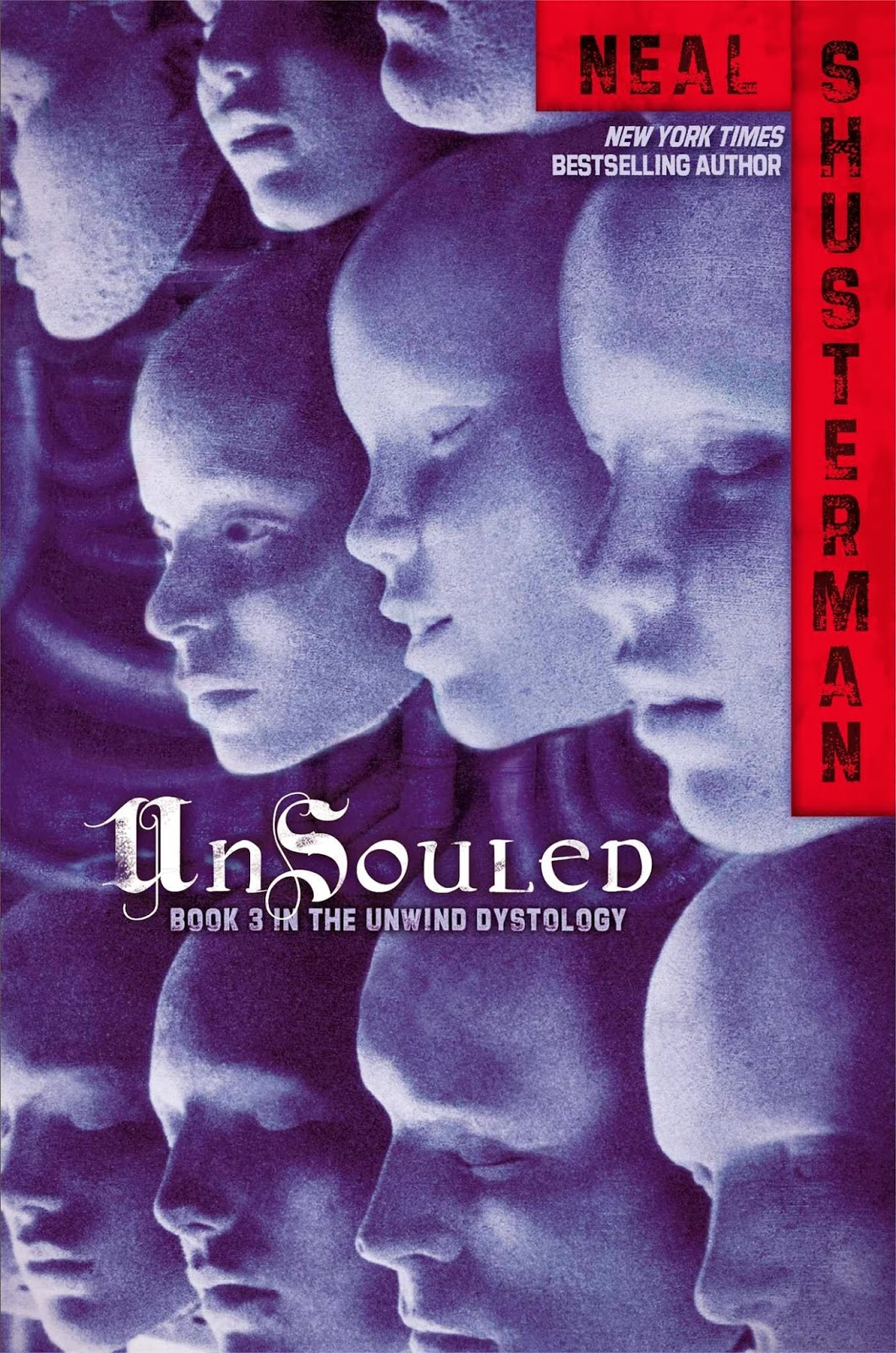 Book cover: Unsouled, book 3 in the Unwind dystology by Neal Shusterman