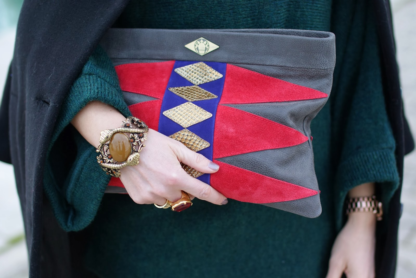 Mohekann Navajo clutch, Fashion and Cookies, fashion blogger