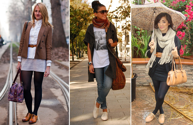 Fashion Street Style Oxford Shoes Combinations