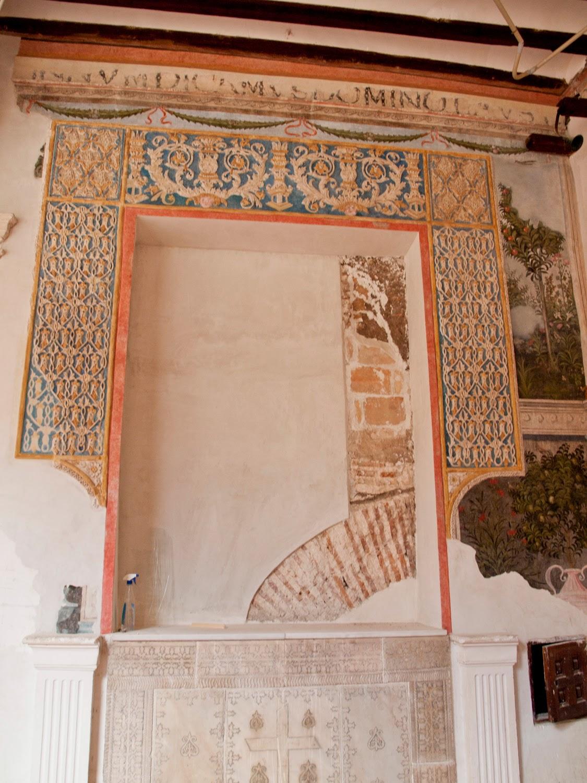 Restos decoracion Monasterio de San Clemente en Toledo