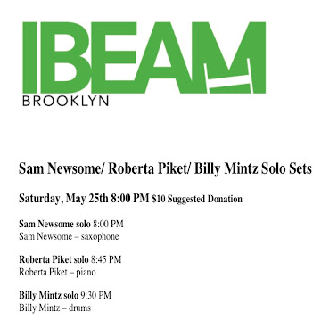 Sam Newsome plays solo iBEAM in Brooklyn