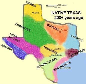 Native Texan Cultures Map