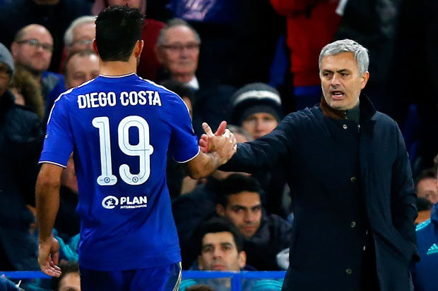 ROCKY RELATIONSHIP: Jose Mourinho and Diego Costa