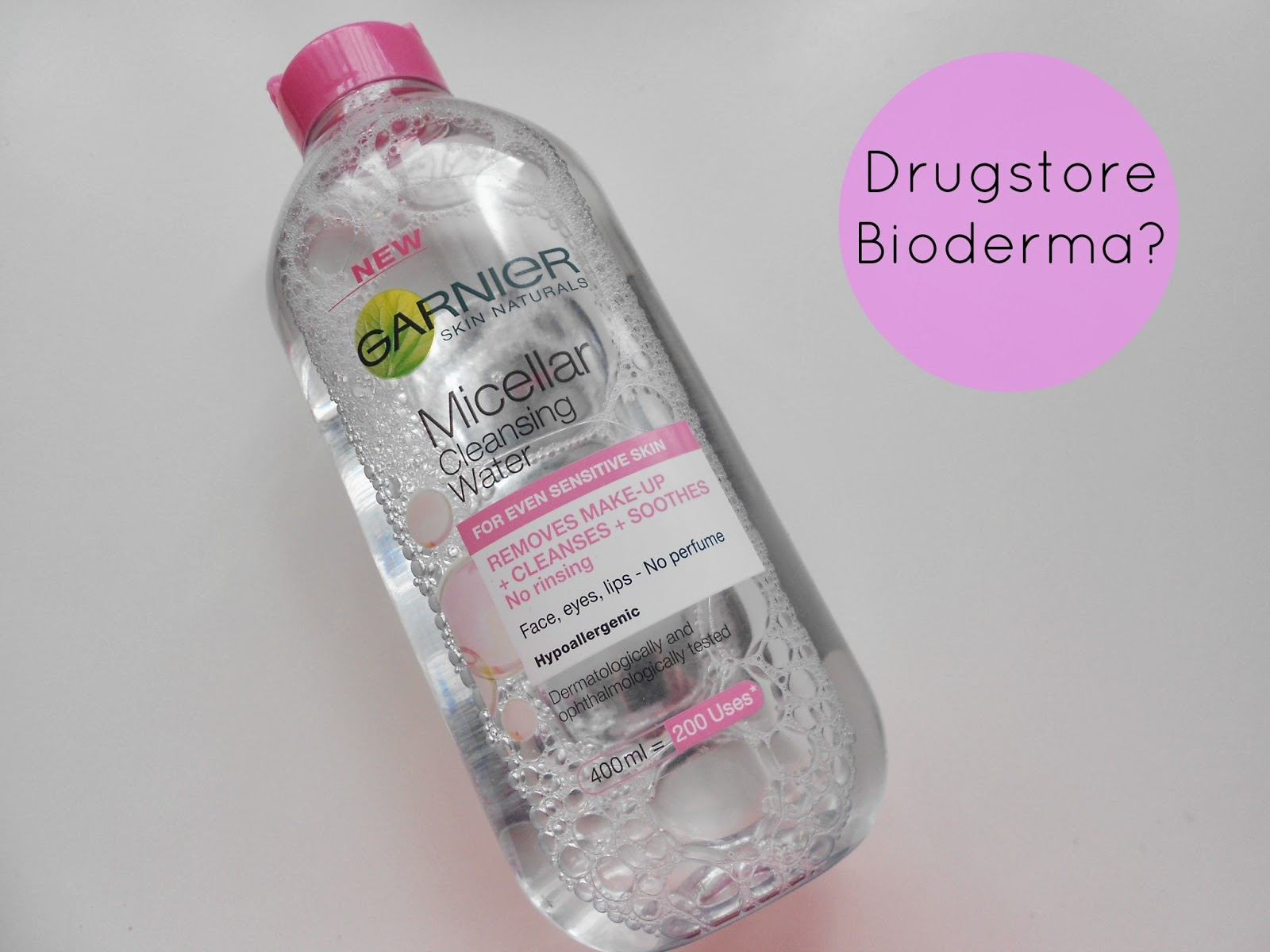Garnier micellar Cleansing water review bioderma dupe