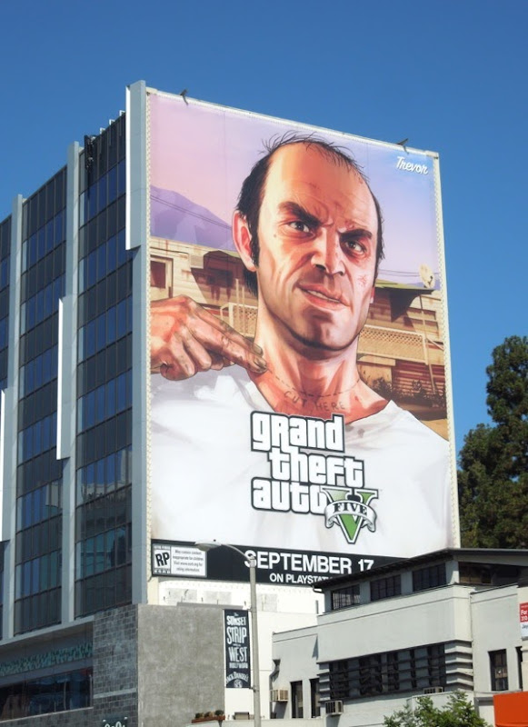 Giant Grand Theft Auto V Trevor billboard
