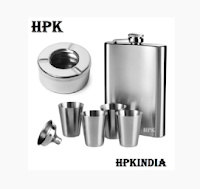 Buy Hip Flask with 4 Shot Glasses at 40% off , 20% off & 10% Cashback:Buytoearn