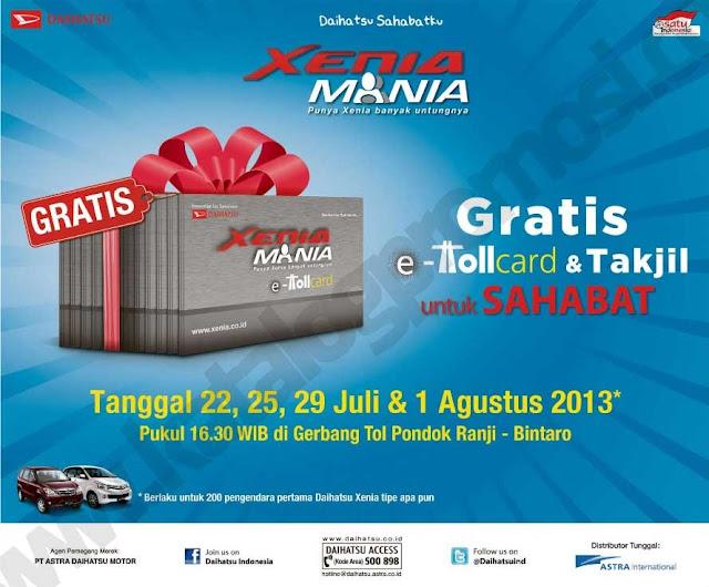 Harga/hadiah promo dari daihatsu Indonesia gratis TollCard