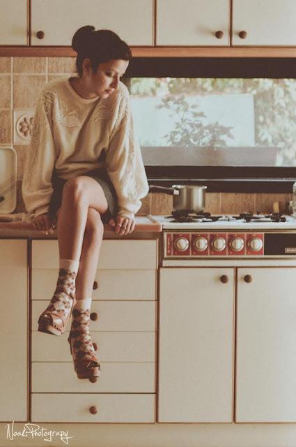 נעלי עקב עץ