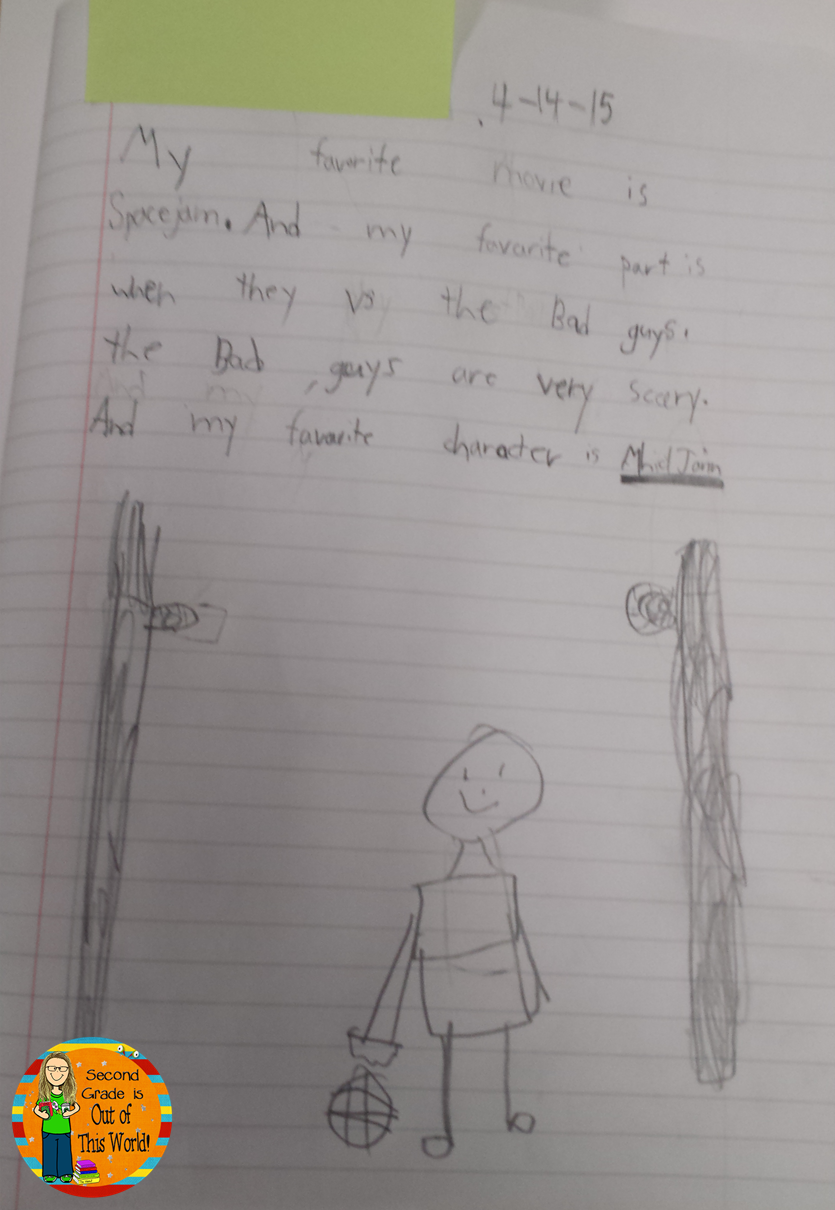 class writing journal in action