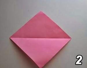 Aprenda a fazer CORAÇÃO de origami.