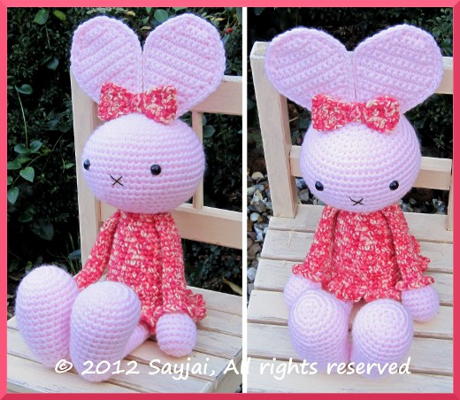 Amigurumi Crochet Patterns K And J Dolls : Huggy Bunny Crochet Pattern - Sayjai Amigurumi Crochet ...