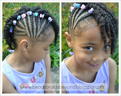 side cornrows with two strand twists  twist hairstyles