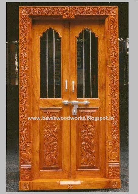 Bavas Wood Works Pooja Room Door Frame And Door Designs