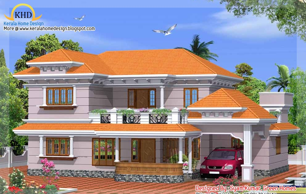 Duplex house elevation 2425 sq ft home appliance for Duplex house plans for 2000 sq ft