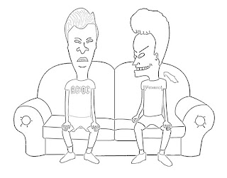 Beavis and Butthead Cartoon Sketch