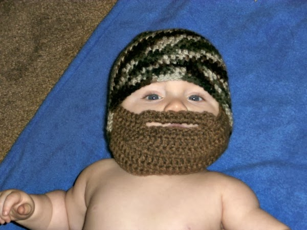 Tracys Crochet Bliss Free Pattern Bearded Baby Beanie