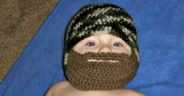 Free Crochet Patterns Hats With Beards : Tracys Crochet Bliss: FREE Pattern-Bearded Baby Beanie