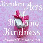 Random Acts of Blogging Kindness