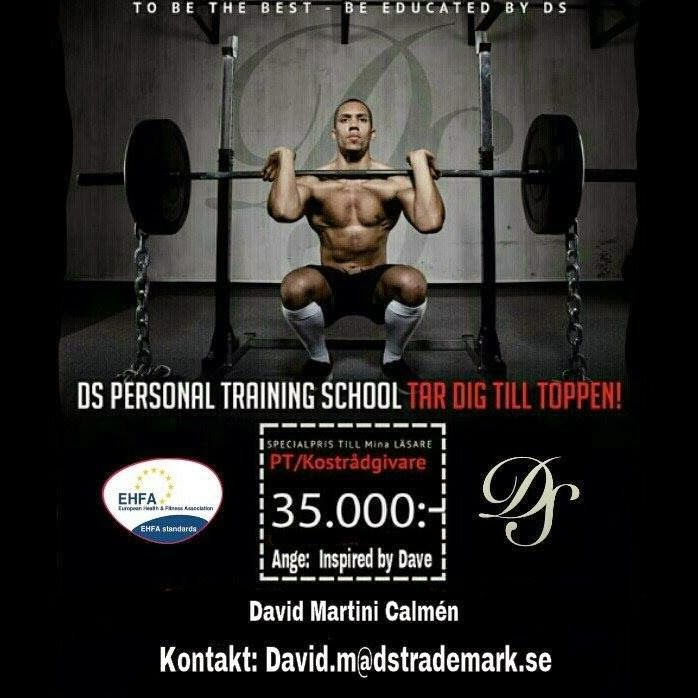 Utbilda dig genom DS Personal Training. Skriv till david.m@dstrademark.se