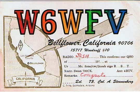 Cal's QSL card