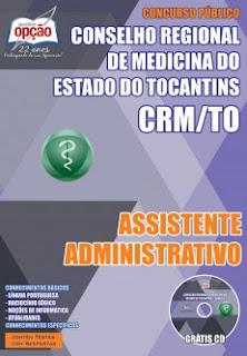Apostila Concurso Conselho Regional de Medicina (TO) CRMTO GRÁTIS CD ROM, PDF.