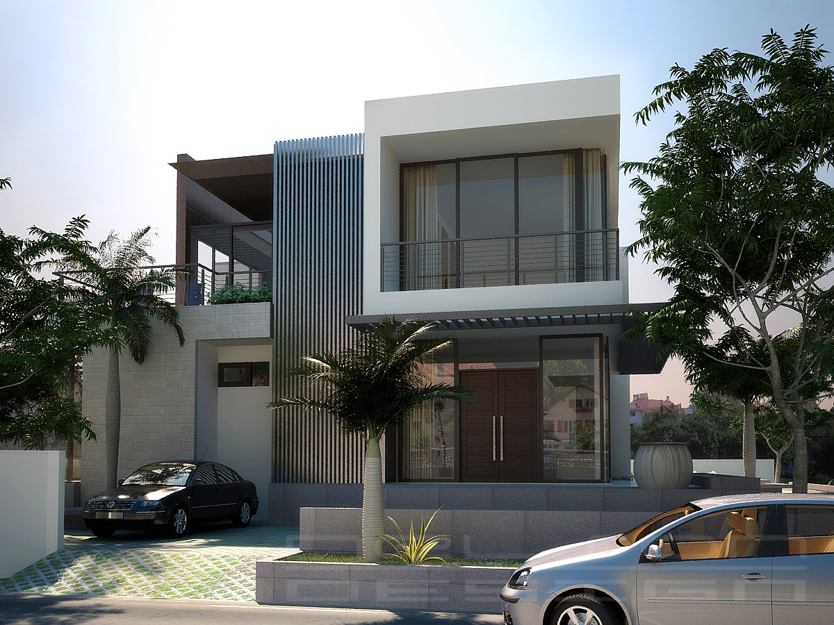 Modern homes exterior designs hokkaido japan new home for Modern house front view design