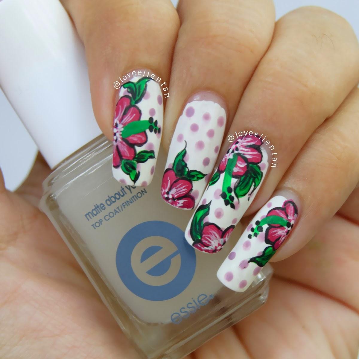 Notd Flowery Nail Art Loveellentan