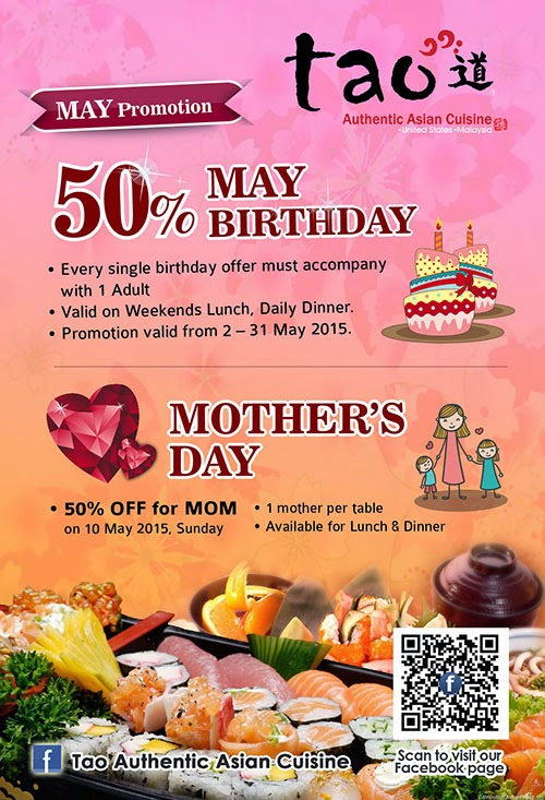 mother's day promotion @ tao authentic asian cuisine | malaysian