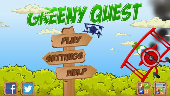 Top classic platform iPhone, iPad, iPod Touch cartoon game Greeny Quest now made free, download and play now