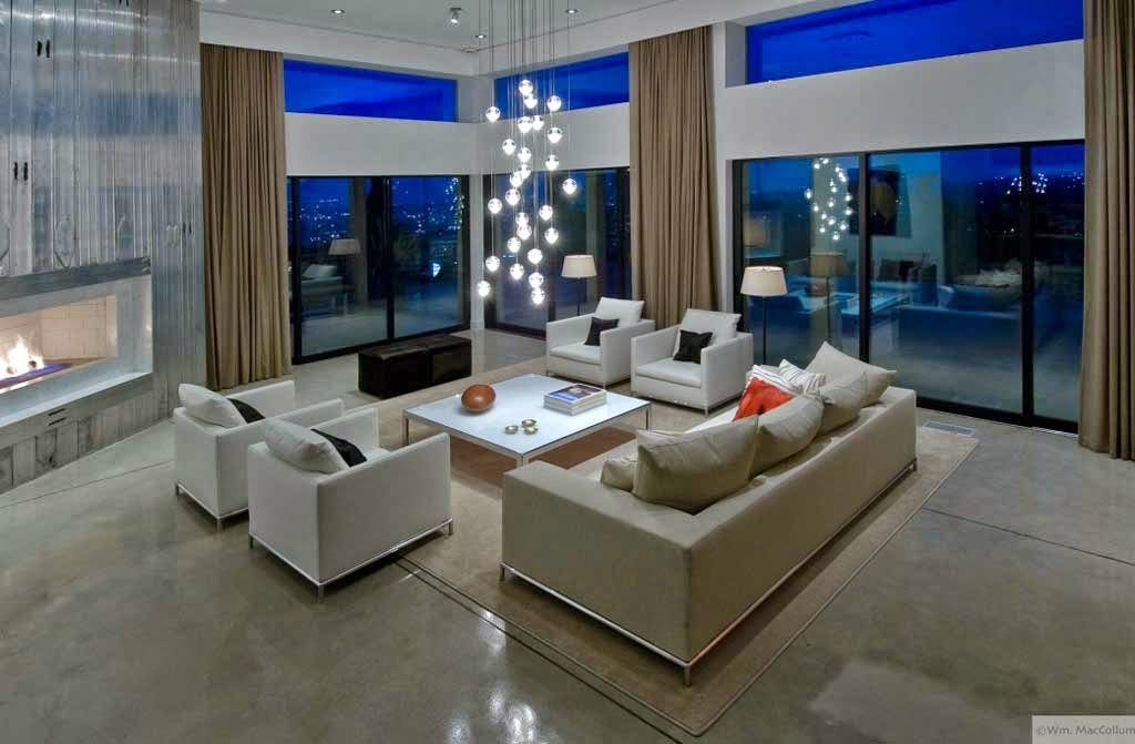 Beautiful decorative lighting minimalist living room