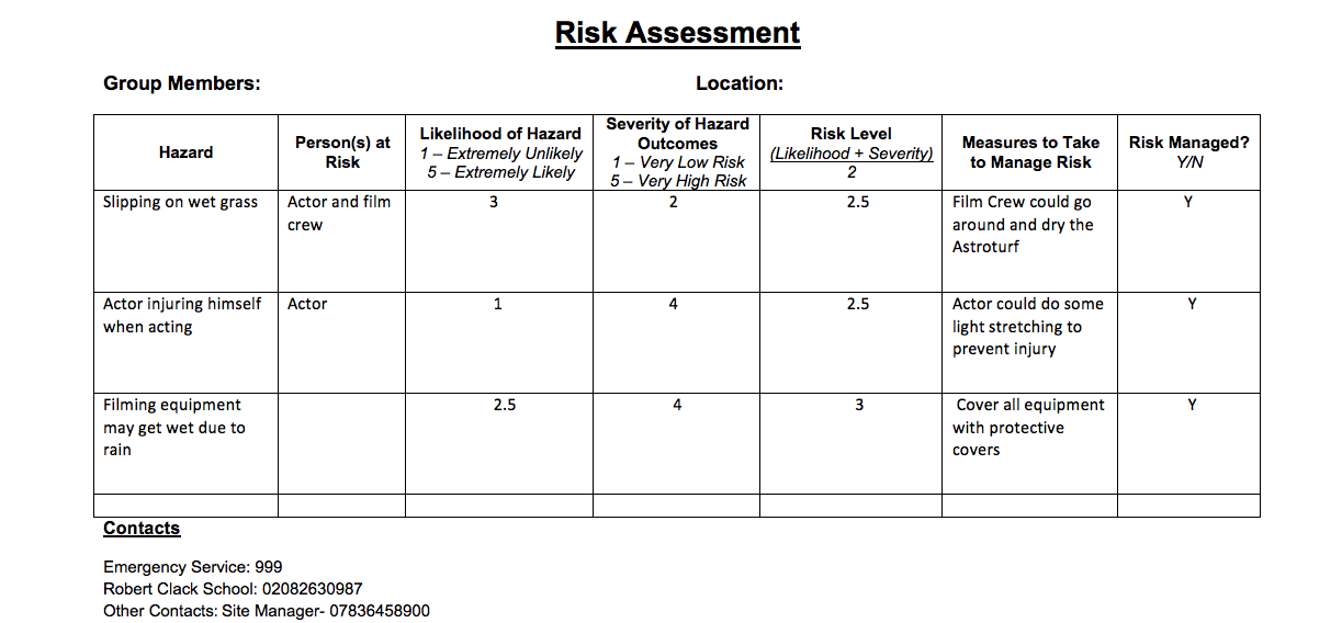 task 3 risk assessment To the attention of the risk assessment task force (rat force), which is responsible for dealing with problems, concerns and questions regarding risk assessment therefore, these clarifications are the responses given by the rat force to the.