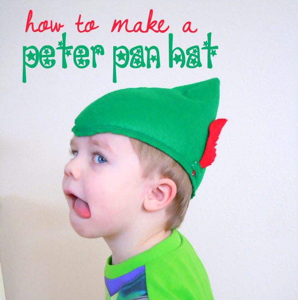 how to make a peter pan hat out of felt