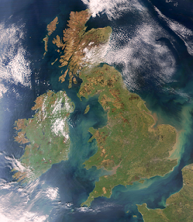 Ilhas Britânicas - Imagem de satélite - NASA