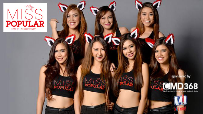 MISS POPULAR 2015 Batch :'Pioneer DJ Hunt' - Angel, Diony, Gez, Kristien, Megan, Moski, Nadine | www.insight-zone.com