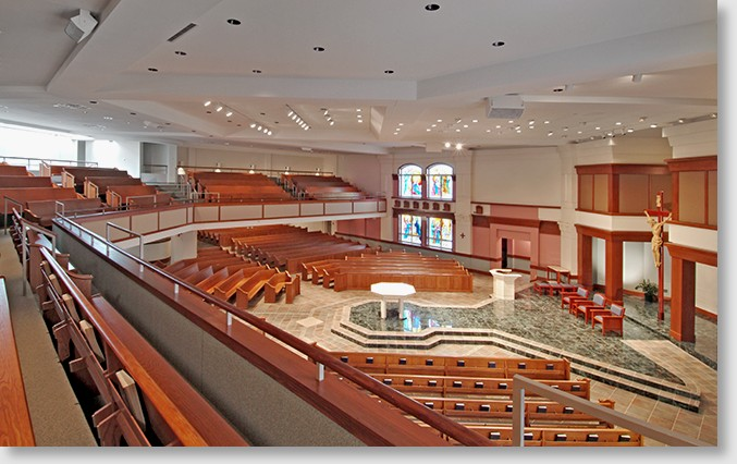 Contemporary Church Sanctuary Disrupted the church and