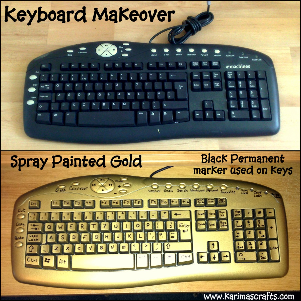 Spray Painting Ideas Part - 38: Spray Painted Keyboard Tutorial - Great Ideas
