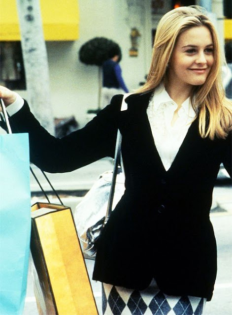 Cher in Clueless shopping scene