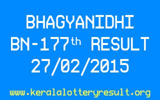 BHAGYANIDHI BN 177 Lottery Result 27-2-2015