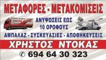ΜΕΤΑΦΟΡΕΣ ΜΕΤΑΚΟΜΙΣΕΙΣ