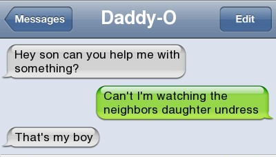 funny iphone text message