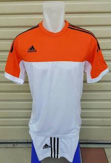 gambr photo jersey enkosa sport Jersey setelan futsal Adidas warna oranye