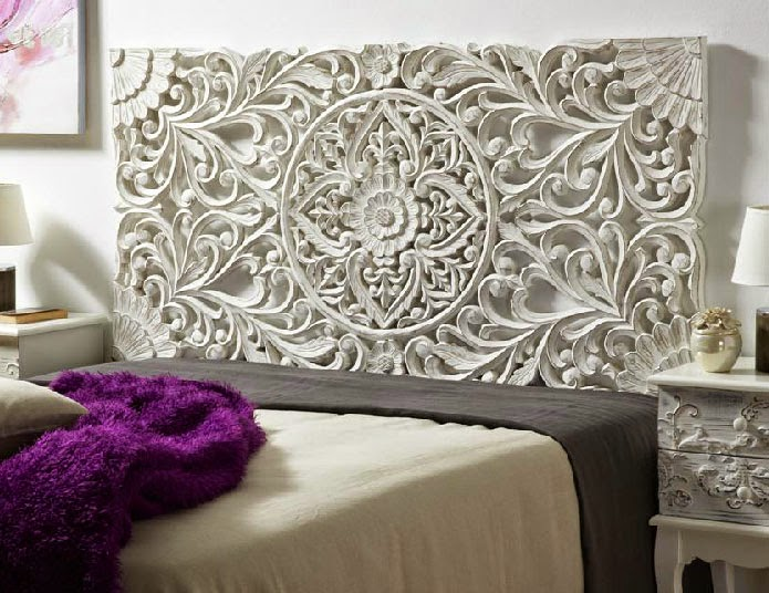 Cabecero Tallado Blanco cama 160