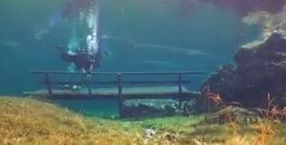 Mergulho no lago verde Superinteressante