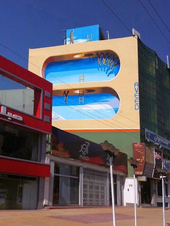 Murales en los edificios de Teheran 22