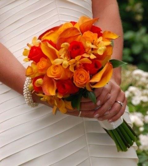 Ramos y Bouquets de Novia Naranja, parte 4