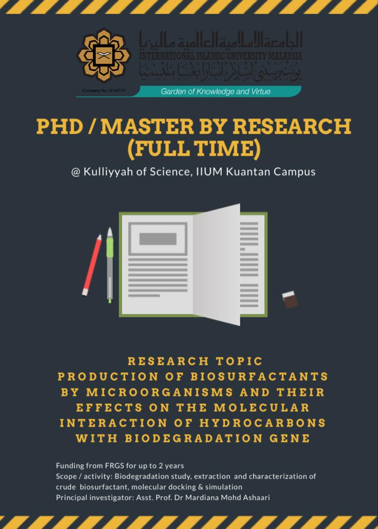 Master/PhD Opportunity