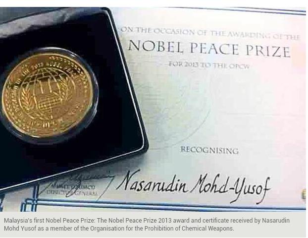 Aku bangga Anak melayu terima hadiah Nobel Peace