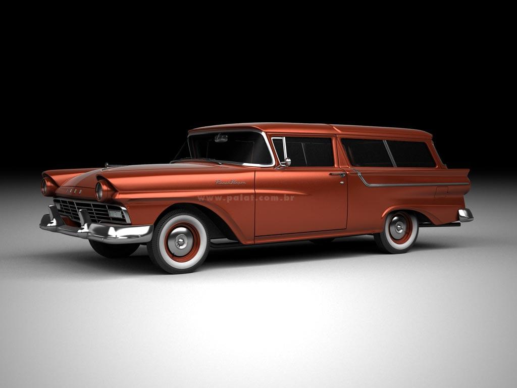 A garagem digital de dan palatnik the digital garage for 1957 ford 2 door ranch wagon sale