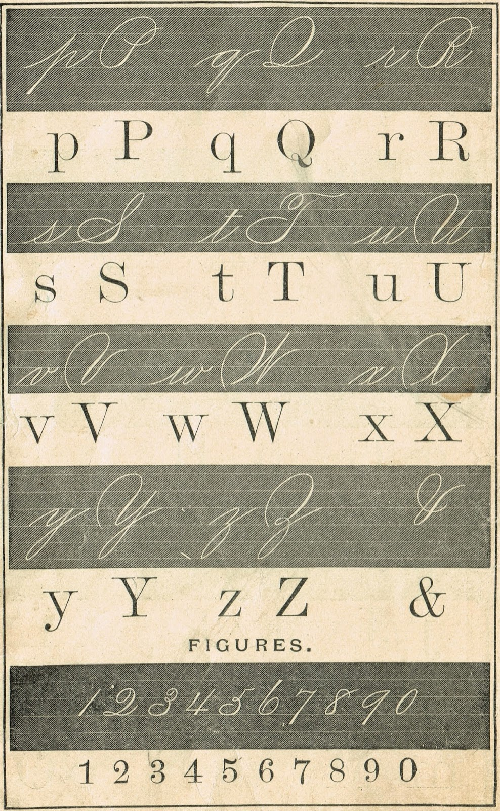 1800's Alphabet School Primer Page - Royalty Free Printable Antique Graphics | www.knickoftime.net